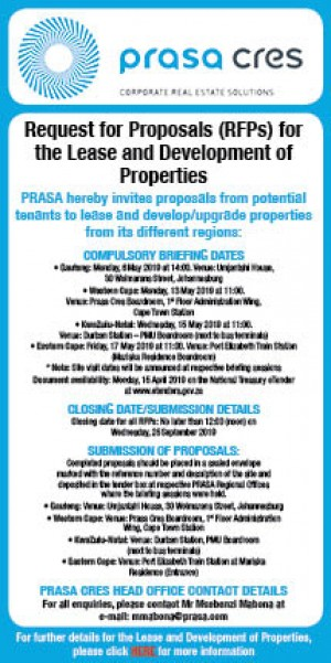 Request for Proposals for the Lease and Development of Properties