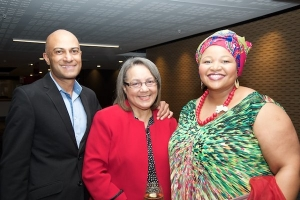 Mayor of the City of Cape Town Patricia de Lille with SAPOA CEO Neil Gopal and SAPOA President Nomzamo Radebe