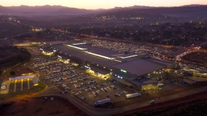Aerial image of Thavhani Mall on opening day